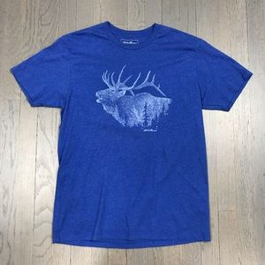 Eddie Bauer Deer Forest Short Sleeve Hiking Tee